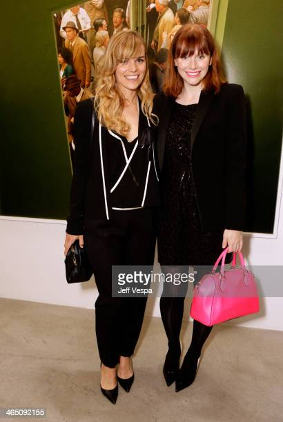 Photographer Alex Prager and actress Bryce Dallas Howard attend Alex Prager Face In The Crowd Exhibition Opening Night Reception at MB Gallery on...