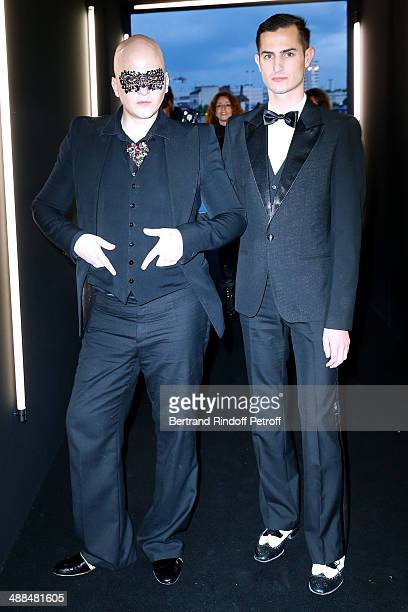 Photographer Ali Mahdavi and Guillaume Thomas attend the Cocktail for the discovery of new fragrance 'Black Opium' by Yves Saint Laurent on May 6...