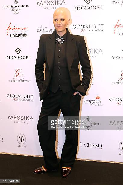 Photographer Ali Mahdavi attends the Global Gift Gala Photocall Held at Four Seasons Hotel George V on May 25 2015 in Paris France