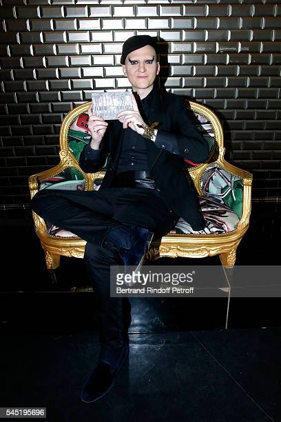 Photographer Ali Mahdavi attends the Jean Paul Gaultier Haute Couture Fall/Winter 20162017 show as part of Paris Fashion Week on July 6 2016 in Paris...