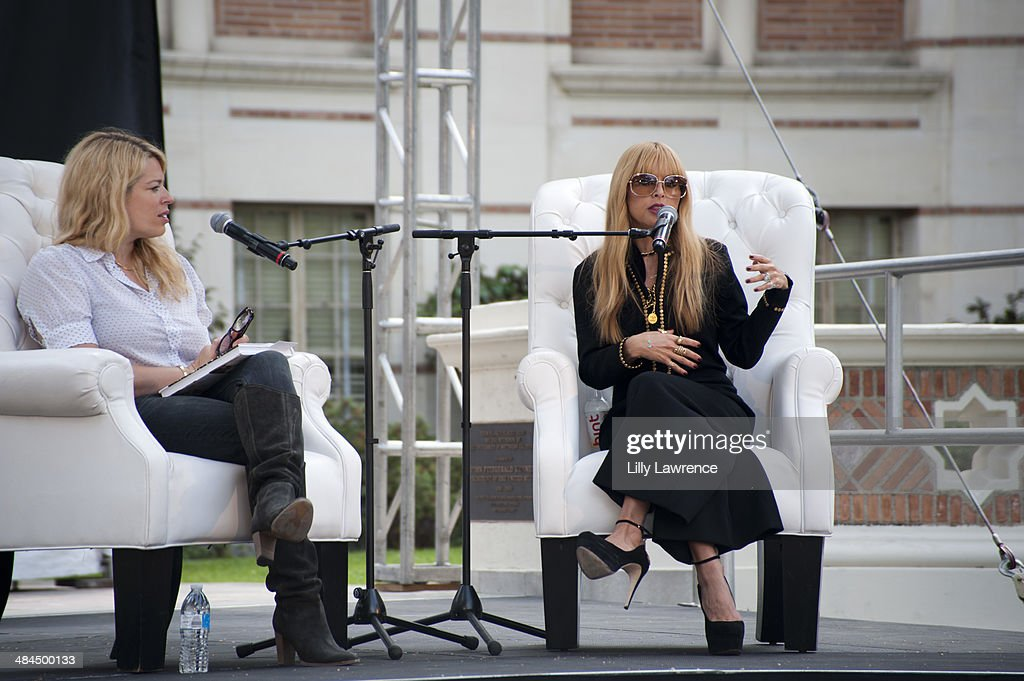 Photographer Amanda de Cadenet speaks with Stylist/Designer/Author Rachel Zoe speaks at the 19th Annual Los Angeles Times Festival Of Books Day 1 at...