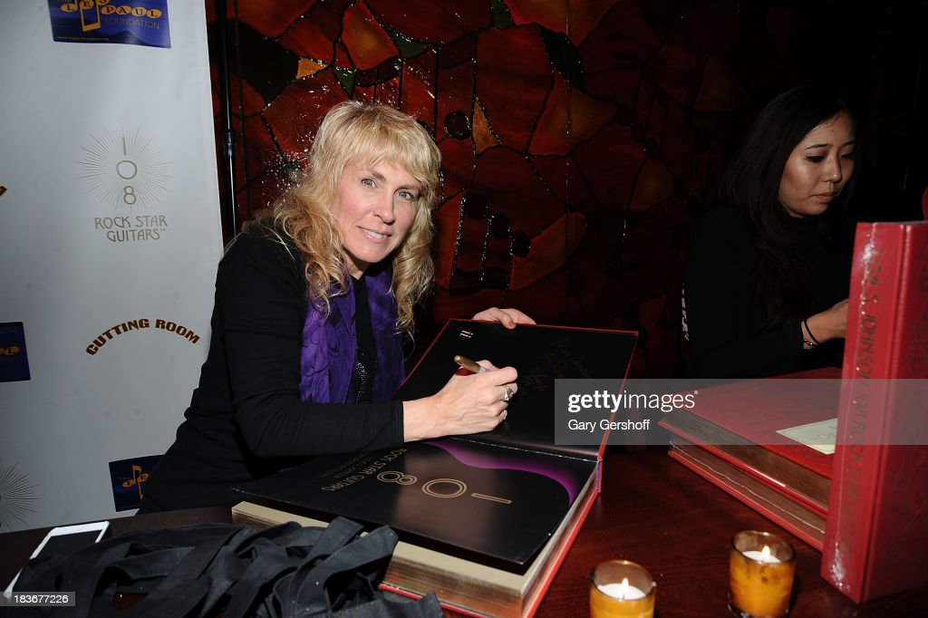 Photographer and author Lisa Johnson attends the book launch and performance for '108 Rock Star Guitars' benefitting The Les Paul Foundation at The Cutting Room on October 8, 2013 in New York City.