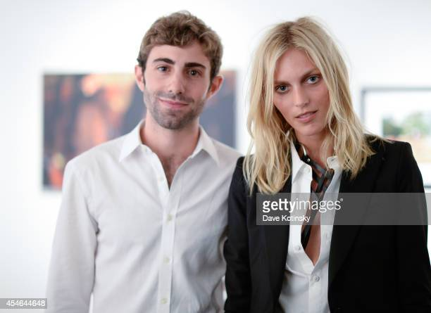 Photographer and Creative Manager Luke Namer and model Anja Rubik attend the opening reception of Global Brigades World Campus at Gallery 151 on...