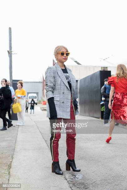 Photographer and Fashion Blogger Margaret Zhang during MercedesBenz Fashion Week Resort 18 Collections at Carriageworks on May 15 2017 in Sydney...