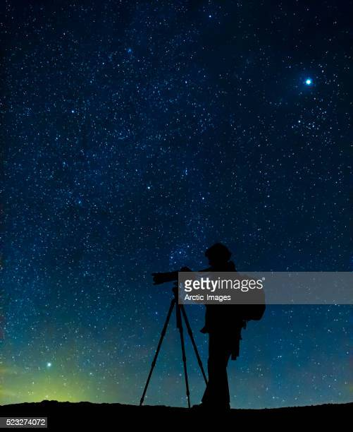 Photographer and Starlight, Iceland