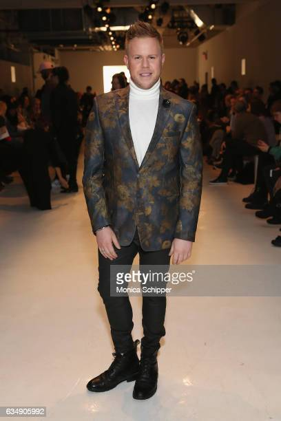 Photographer Andrew Werner attends the Marcel Ostertag collection during New York Fashion Week The Shows at Gallery 3 Skylight Clarkson Sq on...