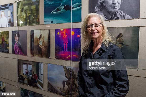 Photographer Annie Lebovitz speaks at her UBS commissioned exhibition 'WOMEN New Portraits' to be held at Cheung Hing Industrial Building Kennedy...