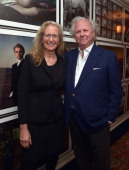 Photographer Annie Leibovitz and Vanity Fair EditorinChief Graydon Carter attend The Annie Leibovitz SUMOSize Book Launch presented by Vanity Fair...