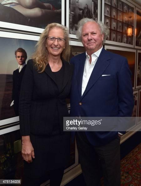Photographer Annie Leibovitz and Vanity Fair EditorinChief Graydon Carter attend The Annie Leibovitz SUMOSize Book Launch presented by Vanity Fair...