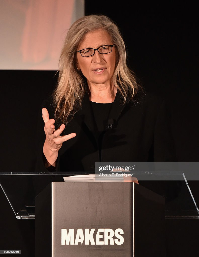 Photographer <a gi-track='captionPersonalityLinkClicked' href=/galleries/search?phrase=Annie+Leibovitz&family=editorial&specificpeople=549168 ng-click='$event.stopPropagation()'>Annie Leibovitz</a> speaks at the AOL 2016 MAKERS conference at Terranea Resort on February 2, 2016 in Rancho Palos Verdes, California.