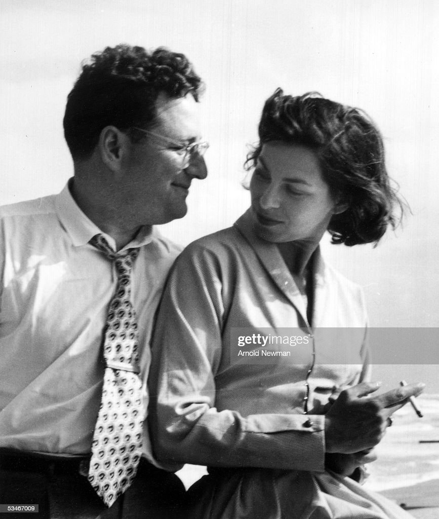 Photographer Arnold Newman and his wife Augusta on their honeymoon in 1949 in Miami Beach, Florida.