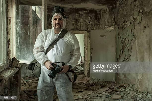 Fotografo di lavoro a Cernobyl