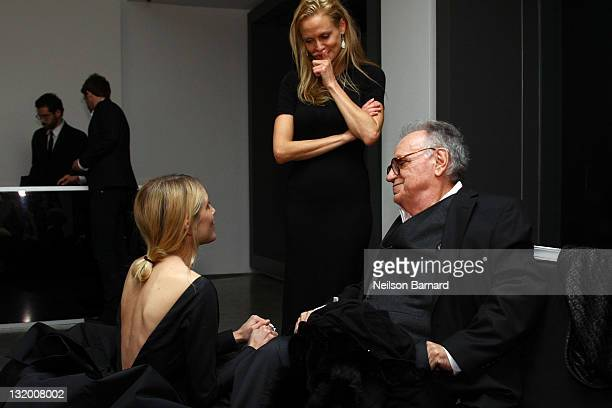 Photographer Bert Stern and Dree Hemingway attend the Dior and The Weinstein Company's opening of 'Picturing Marilyn' at Milk Gallery on November 9...
