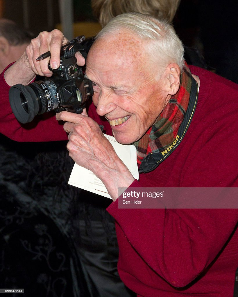 Photographer <a gi-track='captionPersonalityLinkClicked' href=/galleries/search?phrase=Bill+Cunningham+-+Photographer&family=editorial&specificpeople=9159658 ng-click='$event.stopPropagation()'>Bill Cunningham</a> attends the 2012 Living Landmarks Celebration at The Plaza on November 8, 2012 in New York City.