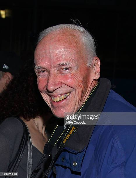 Photographer Bill Cunningham attends the 'Bill Cunningham New York' premiere at The Museum of Modern Art on March 24 2010 in New York City