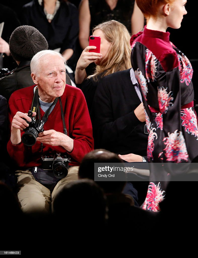 Photographer Bill Cunningham attends the Carolina Herrera Fall 2013 fashion show during Mercedes-Benz Fashion Week at The Theatre at Lincoln Center on February 11, 2013 in New York City.