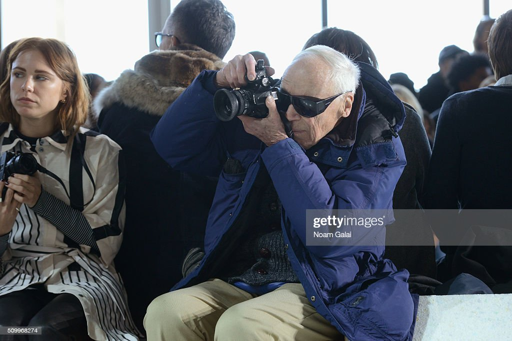 Photographer, Bill Cunningham, attends the Lacoste Fall 2016 fashion show during New York Fashion Week at Spring Studios on February 13, 2016 in New York City.