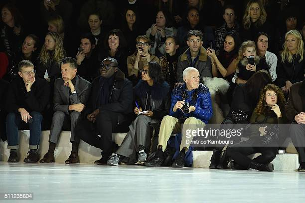 Photographer Bill Cunningham attends the Marc Jacobs Fall 2016 fashion show during New York Fashion Week at Park Avenue Armory on February 18 2016 in...