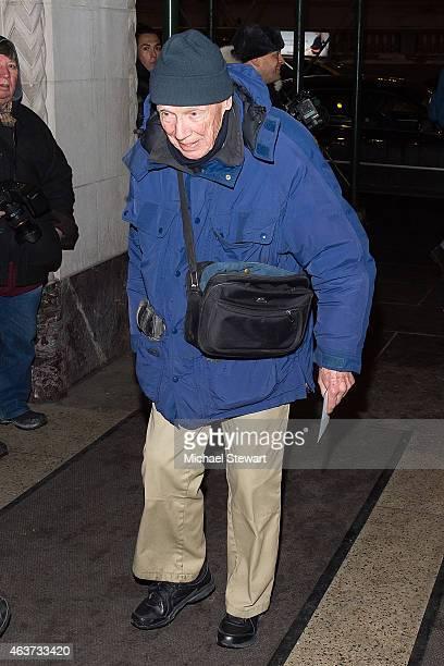 Photographer Bill Cunningham attends the Oscar De La Renta show during MercedesBenz Fashion Week Fall 2015 on February 17 2015 in New York City