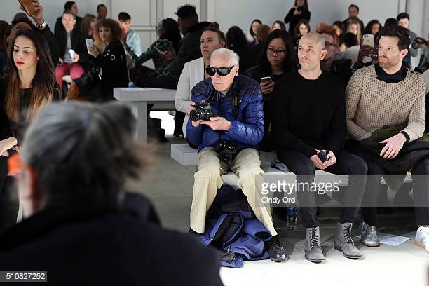 Photographer Bill Cunningham photographs the Xuly Bet Fall 2016 fashion show during New York Fashion Week The Shows at The Gallery Skylight at...