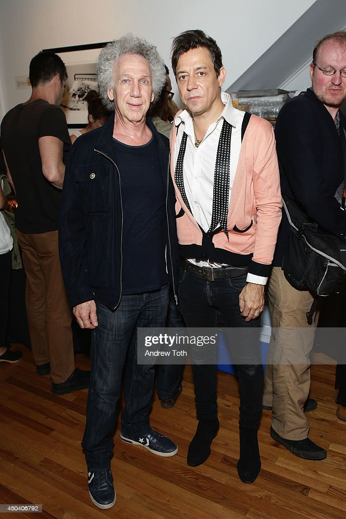 Photographer Bob Gruen (L) and musician Jamie Hince attend Jamie Hince's 'Echo Home' Exhibition Opening at Morrison Hotel Gallery on June 10, 2014 in New York City.