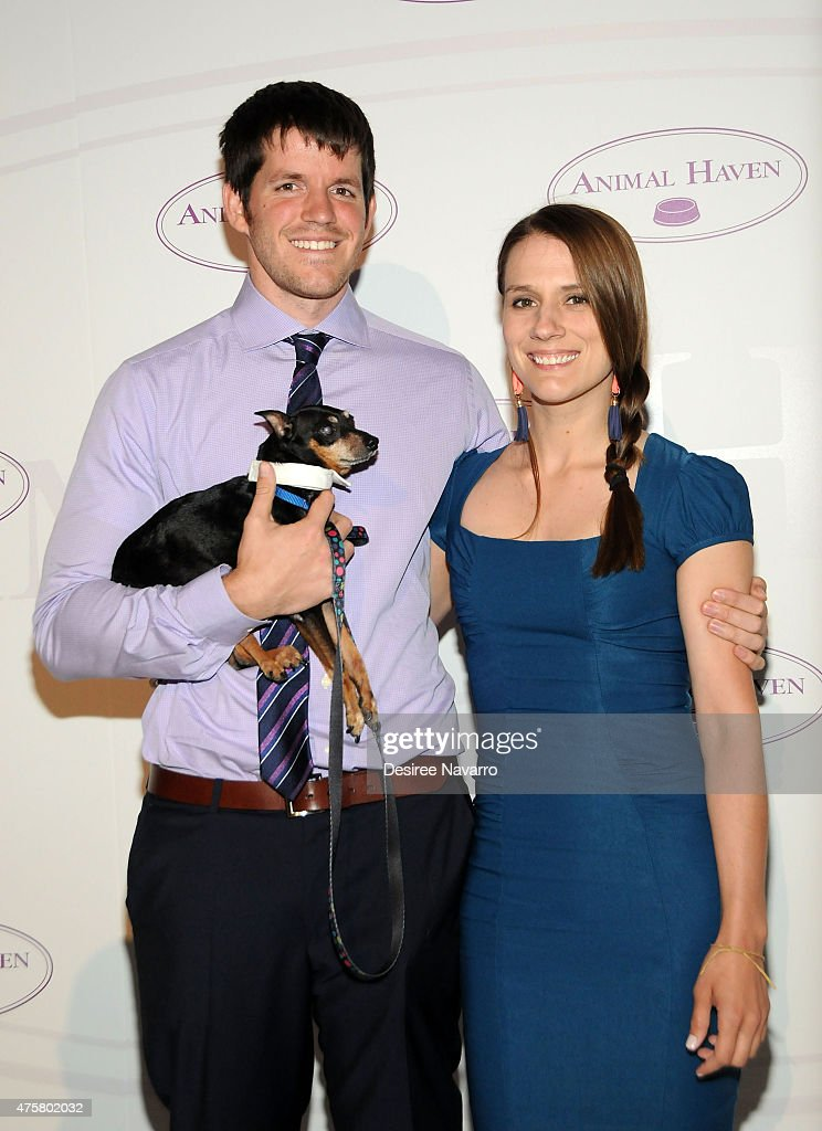 Photographer <a gi-track='captionPersonalityLinkClicked' href=/galleries/search?phrase=Brandon+Stanton&family=editorial&specificpeople=10514754 ng-click='$event.stopPropagation()'>Brandon Stanton</a> and Eirn O'sullivan attend Animal Haven: Benefit for the Animals at Capitale on June 3, 2015 in New York City.