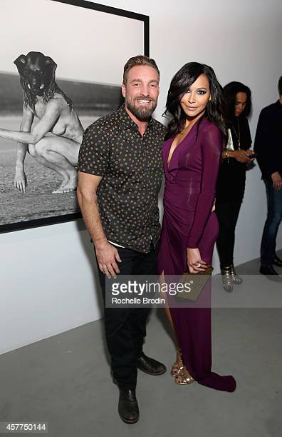 Photographer Brian Bowen Smith and actress Naya Rivera attend the Brian Bowen Smith WILDLIFE show hosted by Casamigos Tequila at De Re Gallery on...