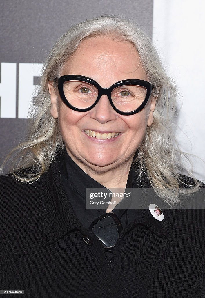 Photographer Brigitte Lacombe attends the 'Mapplethorpe: Look At The Pictures' New York premiere at Time Warner Center on March 22, 2016 in New York City.