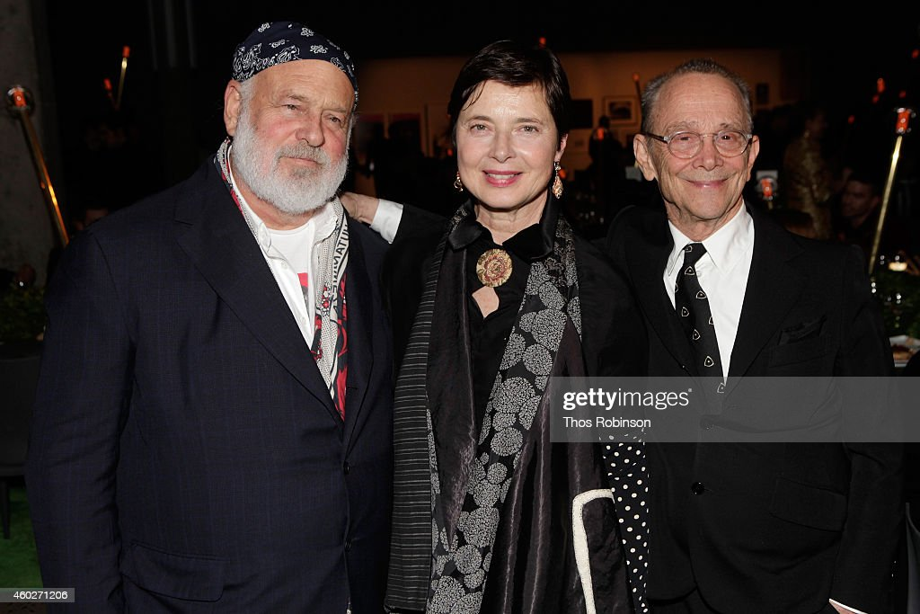 Photographer Bruce Weber and actors Isabella Rossellini and Joel Grey attend the 19th Annual ACRIA Holiday Dinner at Skylight Modern on December 10, 2014 in New York City.