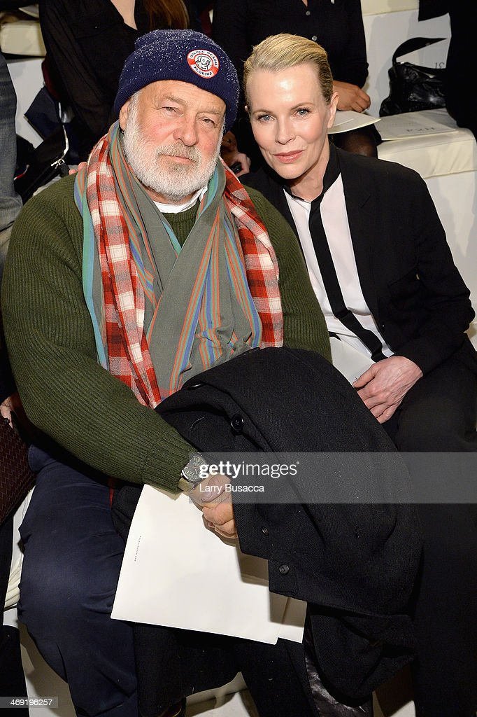 Photographer <a gi-track='captionPersonalityLinkClicked' href=/galleries/search?phrase=Bruce+Weber+-+Photographer&family=editorial&specificpeople=206240 ng-click='$event.stopPropagation()'>Bruce Weber</a> (L) and actress <a gi-track='captionPersonalityLinkClicked' href=/galleries/search?phrase=Kim+Basinger&family=editorial&specificpeople=202204 ng-click='$event.stopPropagation()'>Kim Basinger</a> attend the Ralph Lauren fashion show during Mercedes-Benz Fashion Week Fall 2014 at St. John Center Studios on February 13, 2014 in New York City.