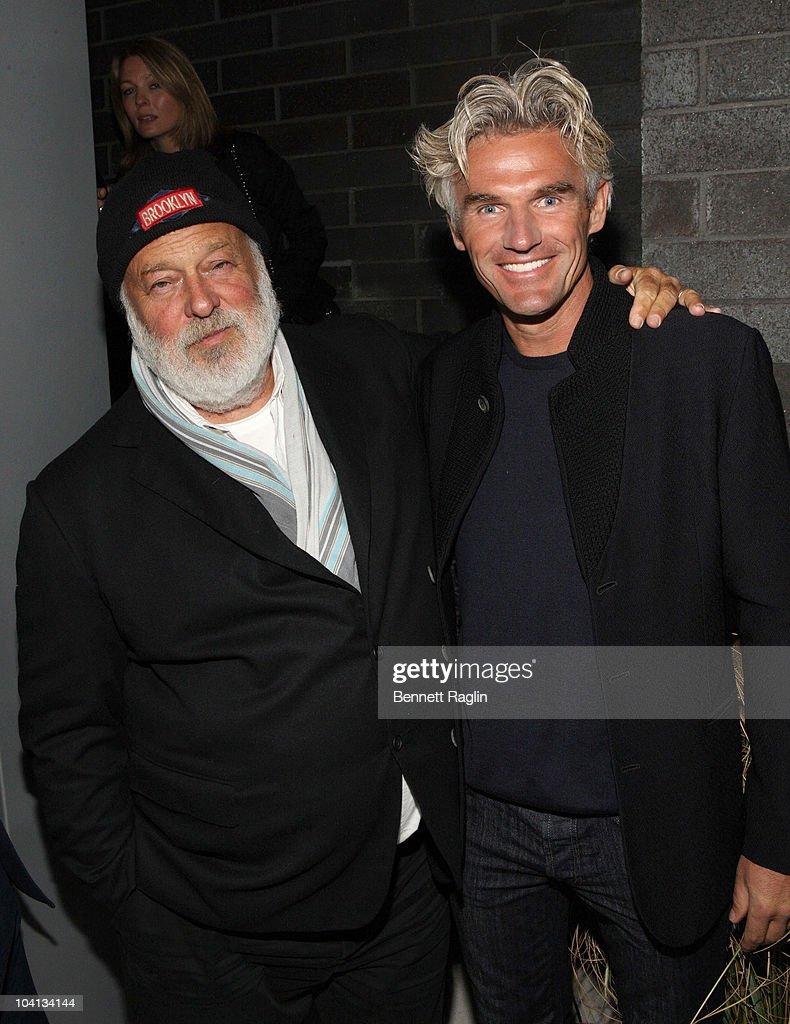 Photographer Bruce Weber and Bobby Dekeyser of Dedon attend Dedon Celebrates New York Hosted By Bruce Weber And Bobby Dekeyser at Nouvel Chelsea on September 15, 2010 in New York City.