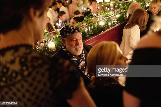 Photographer Bruce Weber attends CHANEL Tribeca Film Festival Artists Dinner Inside on April 18 2016 in New York City