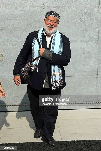 Photographer Bruce Weber attends the Giorgio Armani Spring/Summer 2012 fashion show as part Milan Womenswear Fashion Week on September 26 2011 in...