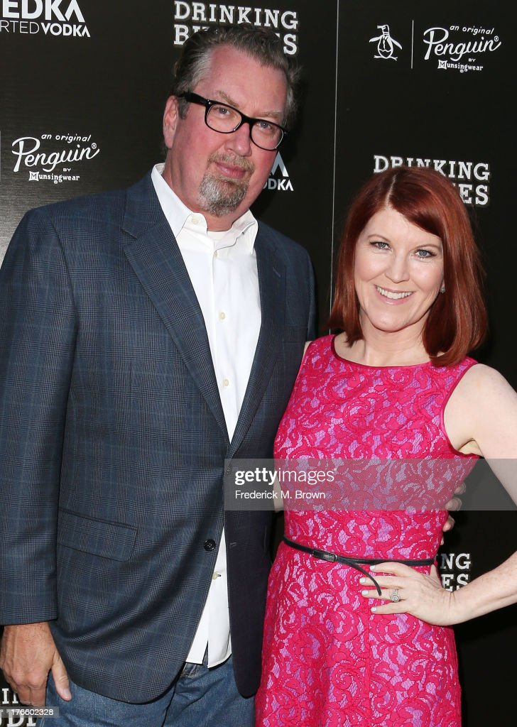 Photographer Chris Haston (L) and actress Kate Flannery attend the screening of Magnolia Pictures' 'Drinking Buddies' at the ArcLight Cinemas on August 15, 2013 in Hollywood, California.