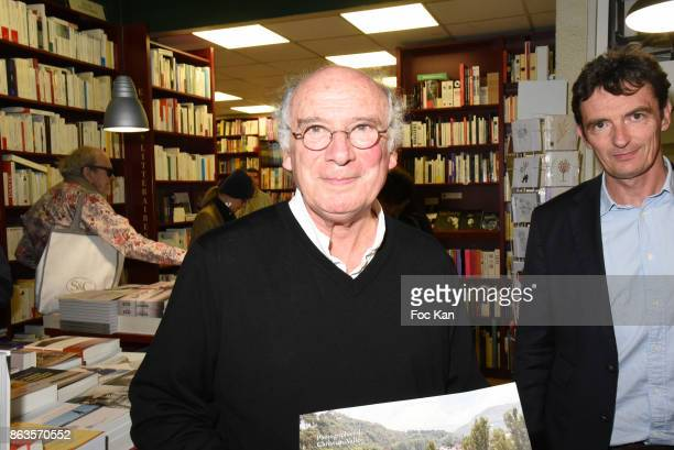 Photographer Christian Vallee attends 'Le Pays ou Je Suis Nee' Francoise Sagan Book Launch at Ecume des Pages on October 19 2017 in Paris France Ê
