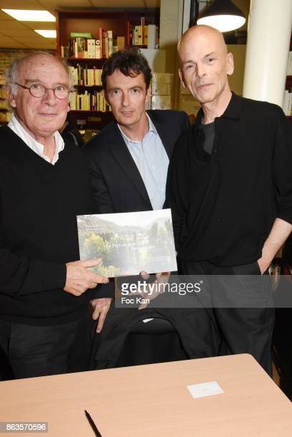 Photographer Christian Vallee Denis WesthoffÊSon of Francoise Sagan and writerJulien Cendres 'Le Pays ou Je Suis Nee' Francoise Sagan Book Launch at...