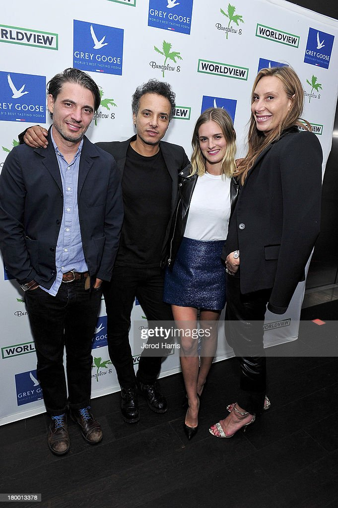 Photographer Christopher Wahl, Jamal Hamani, actress Nathalie Love and <a gi-track='captionPersonalityLinkClicked' href=/galleries/search?phrase=Jacqui+Getty&family=editorial&specificpeople=2092629 ng-click='$event.stopPropagation()'>Jacqui Getty</a> attend the Bungalow 8 and Worldview party during the 2013 Toronto International Film Festival on September 7, 2013 in Toronto, Canada.
