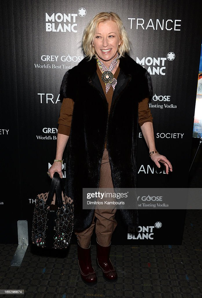 Photographer <a gi-track='captionPersonalityLinkClicked' href=/galleries/search?phrase=Cindy+Sherman&family=editorial&specificpeople=741462 ng-click='$event.stopPropagation()'>Cindy Sherman</a> attends Fox Searchlight Pictures' premiere of 'Trance' hosted by the Cinema Society & Montblanc at SVA Theater on April 2, 2013 in New York City.