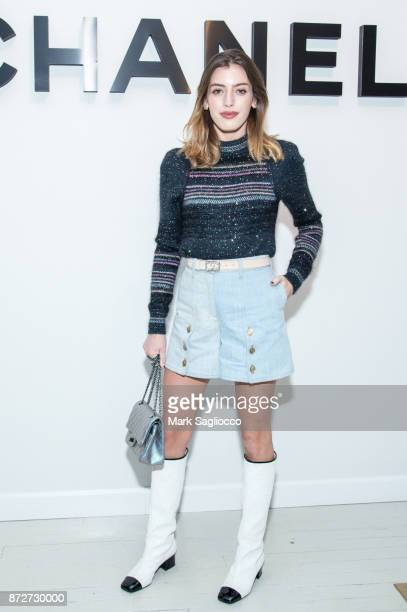 Photographer Clara Mathilde McGregor wearing CHANEL attends the CHANEL celebration of the launch of The Coco Club at The Wing Soho on November 10...