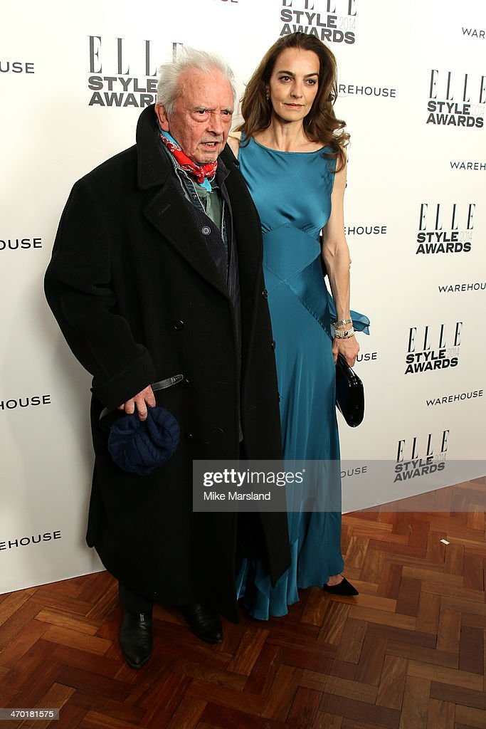 Photographer Dave Bailey and guest attend the Elle Style Awards 2014 at one Embankment on February 18, 2014 in London, England.