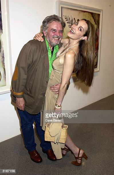 Photographer David Bailey with his wife Catherine during the party held for artist Francesco Clemente to show his new works at the 'Gogasian Gallery'...