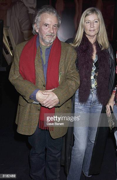 Photographer David Bailey with one of his sixties models Jill Kennington at the 'Unseen Vogue' exhibition that was presented in association with...