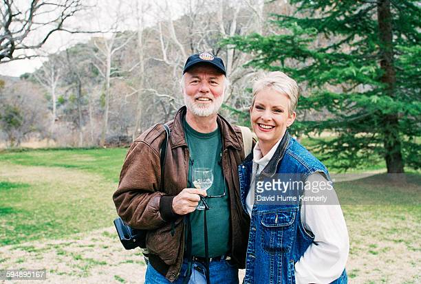 Photographer David Hume Kennerly and Cindy McCain wife of presidential candidate John McCain at their ranch March 9 2000 near Sedona Arizona