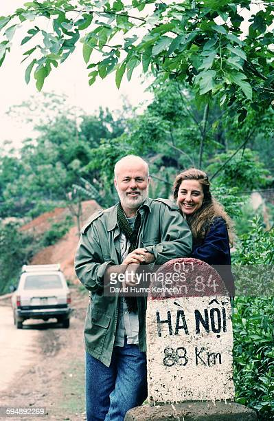 Photographer David Hume Kennerly and his wife Rebecca Soladay circa 1994 near Hanoi Vietnam Kennerly was working on his book 'Passage to Vietnam'