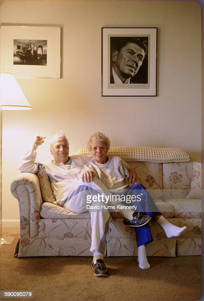 Photographer David Hume Kennerly's father OA Kennerly and aunt Laverne Slusser pose for a family picture circa 1991 in Lancaster Pennsylvania