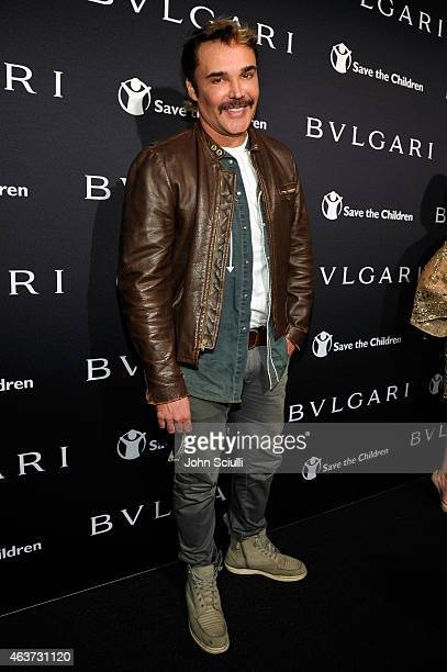 Photographer David LaChapelle attends BVLGARI and Save The Children STOP THINK GIVE PreOscar Event at Spago on February 17 2015 in Beverly Hills...