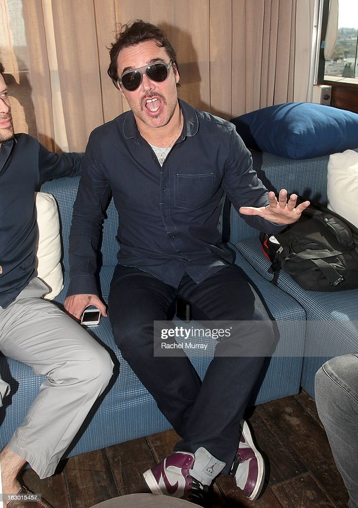 Photographer David LaChapelle attends Flaunt Magazine and Samsung Galaxy celebrate The Plutocracy Issue release hosted by cover Russell Westbrook at Caulfield's Bar and Dining Room at Thompson Hotel on March 2, 2013 in Beverly Hills, California.