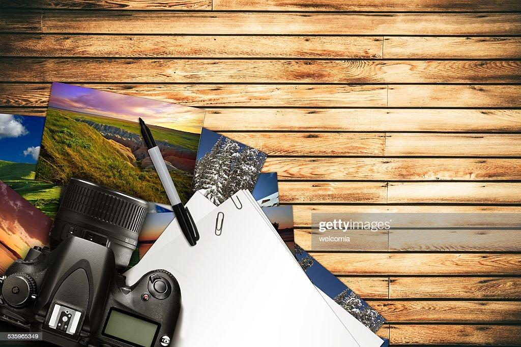 Photographer Desk : Stock Photo