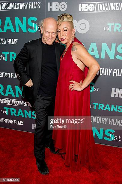 Photographer/ Director Timothy GreenfieldSanders with Bamby Salcedo attend 'The Trans List' New York Premiere at The Paley Center for Media on...
