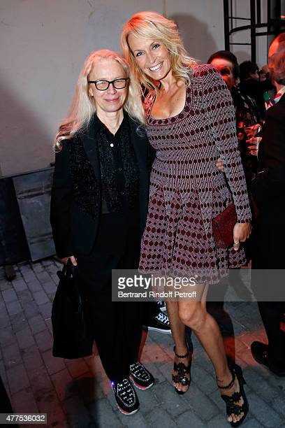 Photographer Dominique Issermann and Estelle Lefebure attend the 'Alaia' Azzedine Alaia Perfum Launch Party on May 21 2015 in Paris France